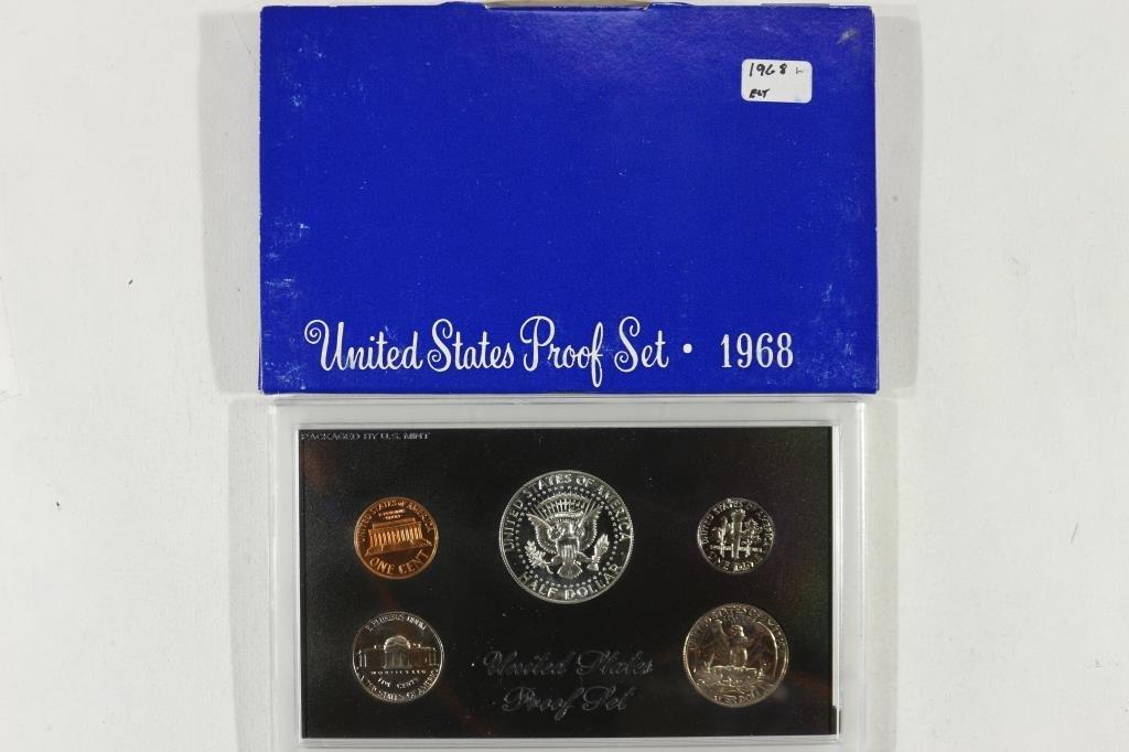 1968 US PROOF SET WITH BOX, 40% SILVER JFK HALF - 2