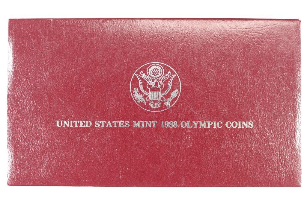 1988-S US OLYMPIC PROOF SILVER DOLLAR - 3
