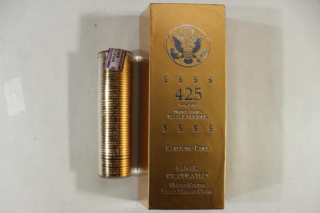 BALLISTIC ROLL OF 50 UNC 2007-D WASHINGTON $'S