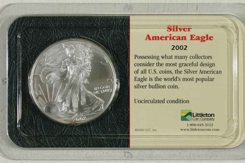 2002 AMERICAN SILVER EAGLE UNC