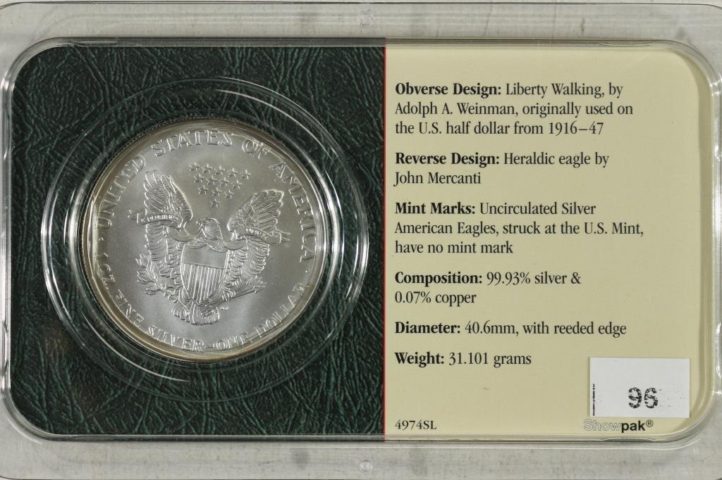 2002 AMERICAN SILVER EAGLE UNC - 2