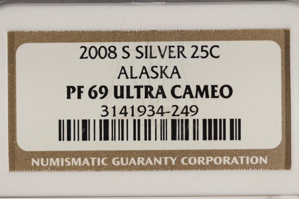 2008-S SILVER ALASKA QUARTER NGC PF69 ULTRA CAMEO - 3
