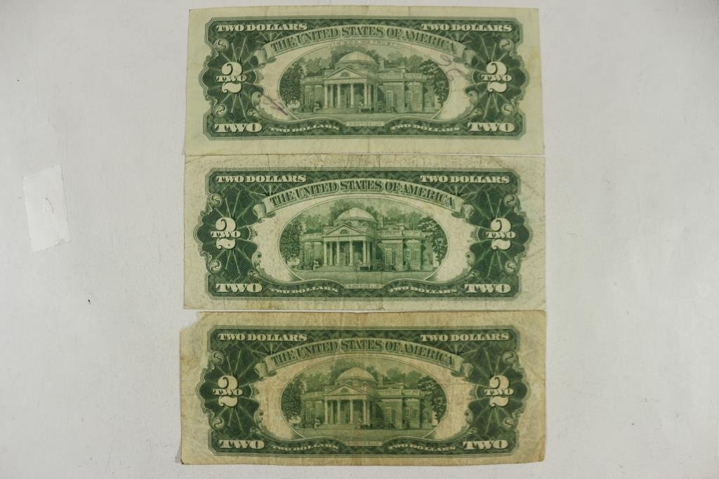1928-D,53-A & 63 $2 US  RED SEAL NOTES - 2