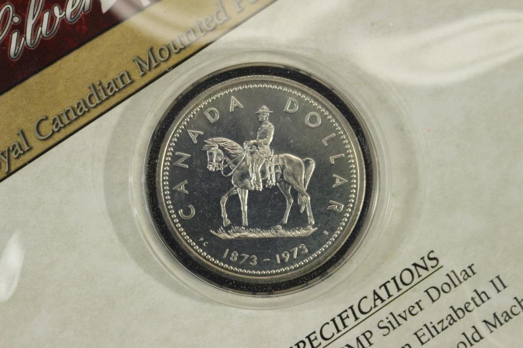 1973 CANADA RCMP SILVER DOLLAR .500 OZ. ASW - 2