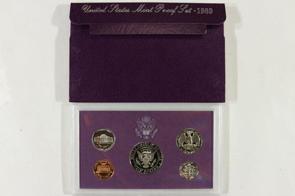 1989 US PROOF SET (WITH BOX) - 2