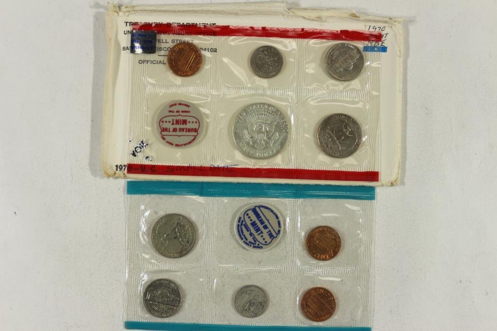 1970 SMALL DATE US MINT SET (UNC) P/D - 2