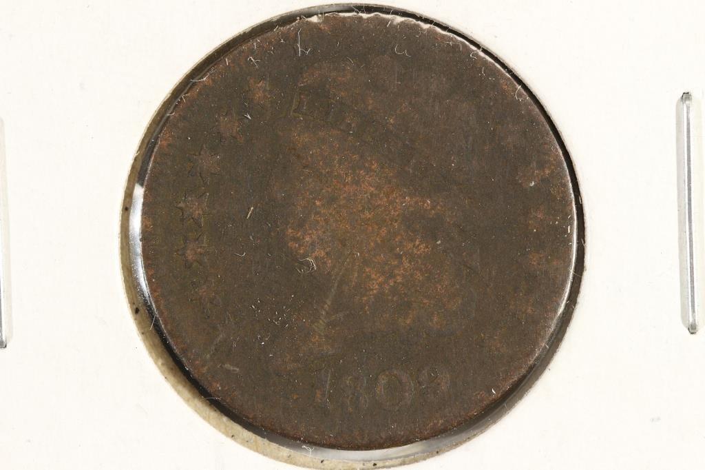 1809 US HALF CENT
