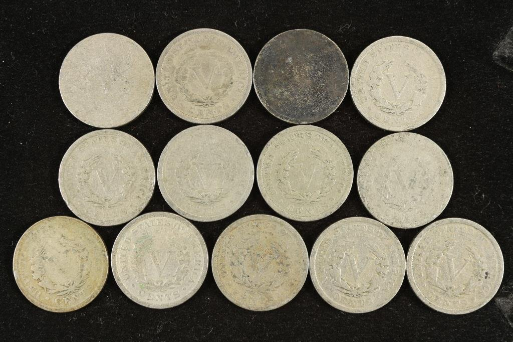 "STARTER SET OF LIBERTY ""V"" NICKELS 1900-1912 - 2"