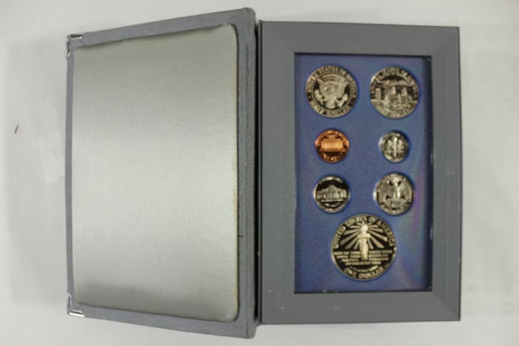 1986 US PRESTIGE PROOF SET STATUE OF LIBERTY - 2