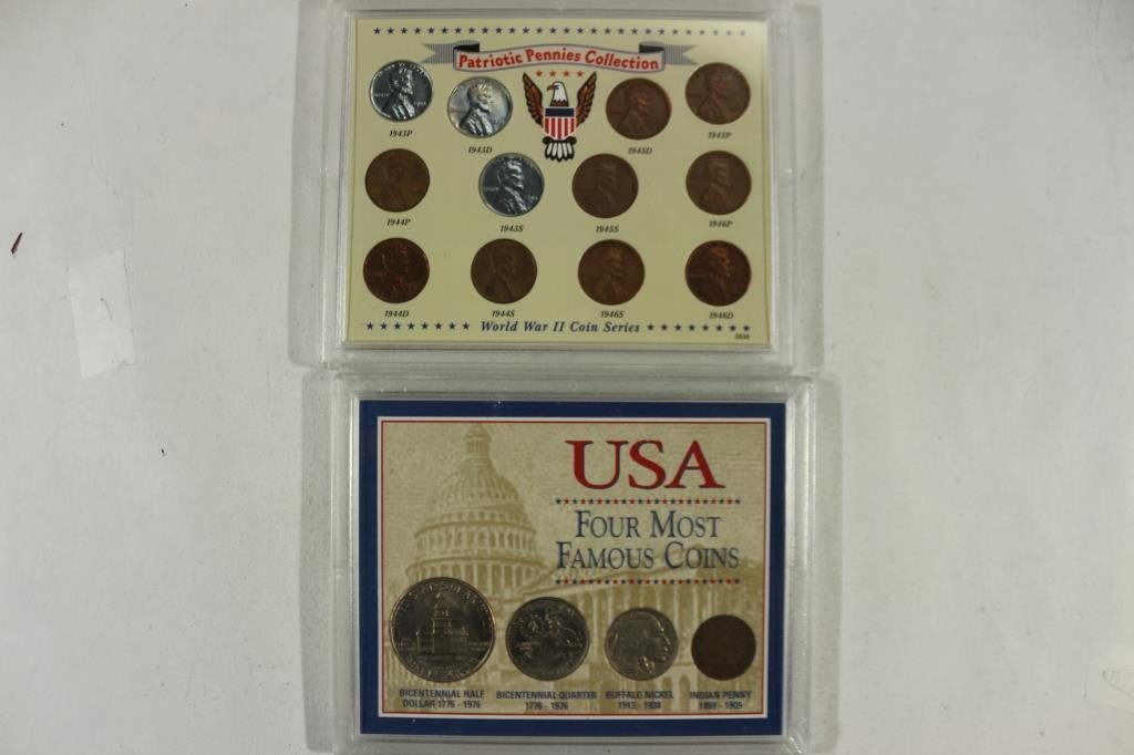 2 COIN SETS SEE DESCRIPTION WWII COIN SET AND