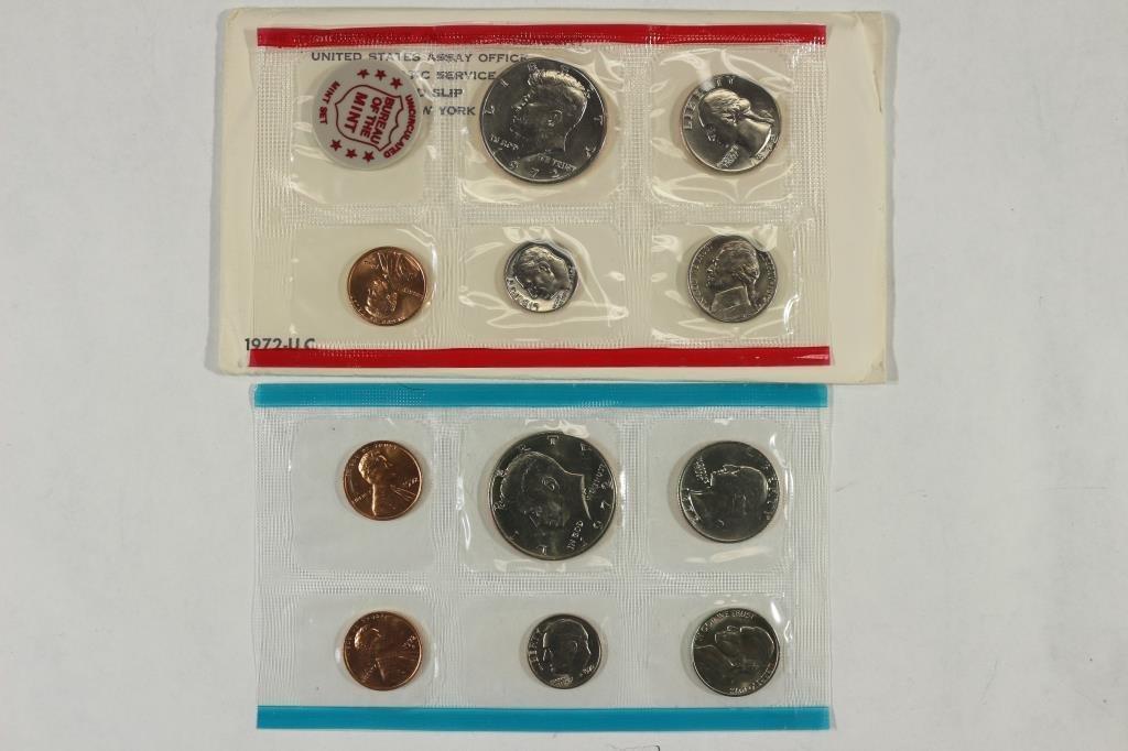 1972 US MINT SET (UNC) P/D/S (WITH ENVELOPE)