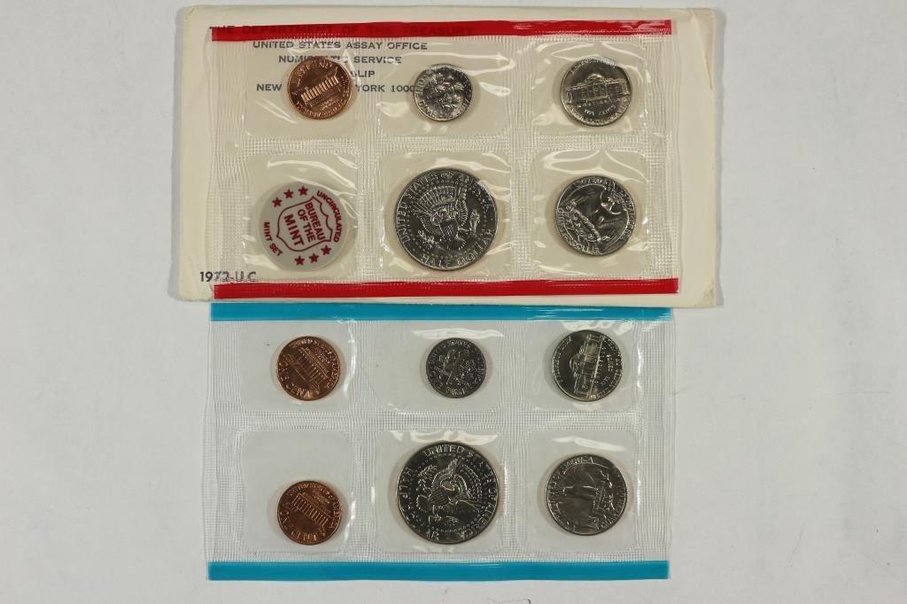 1972 US MINT SET (UNC) P/D/S (WITH ENVELOPE) - 2