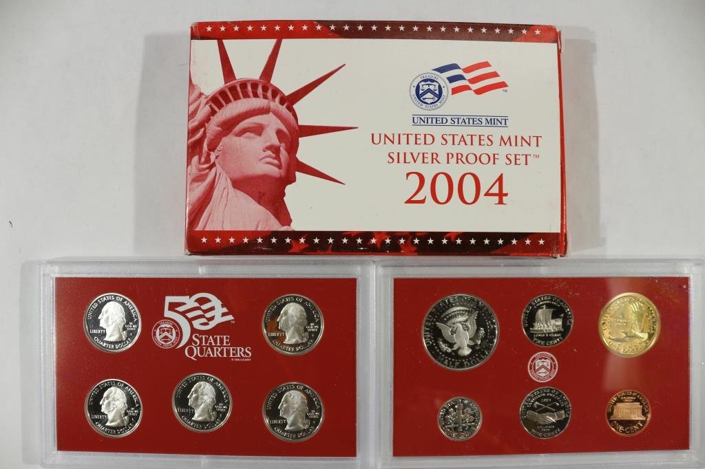 2004 US SILVER PROOF SET (WITH BOX) - 2