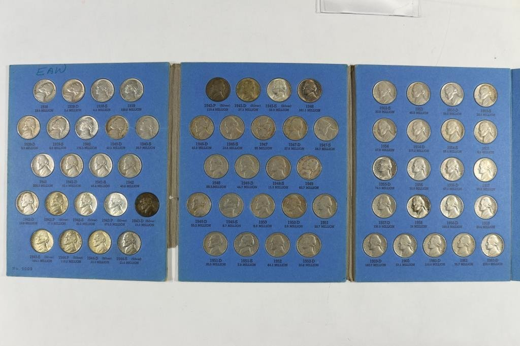 COMPLETE 1938-1961 JEFFERSON NICKEL SET