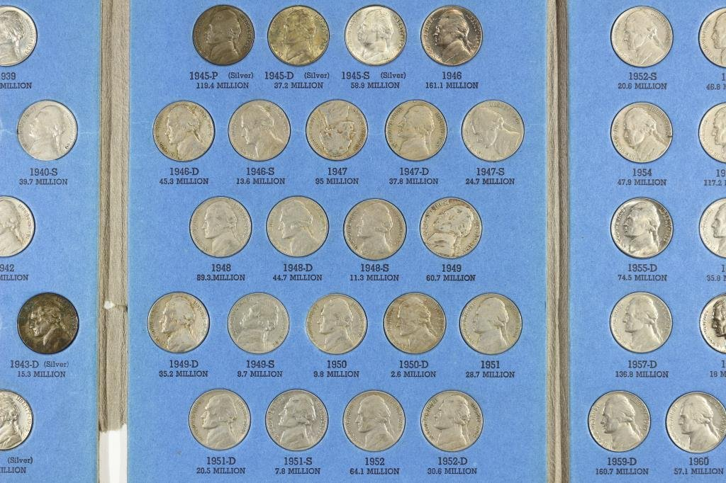 COMPLETE 1938-1961 JEFFERSON NICKEL SET - 3