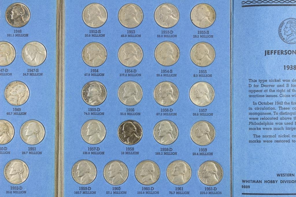 COMPLETE 1938-1961 JEFFERSON NICKEL SET - 4