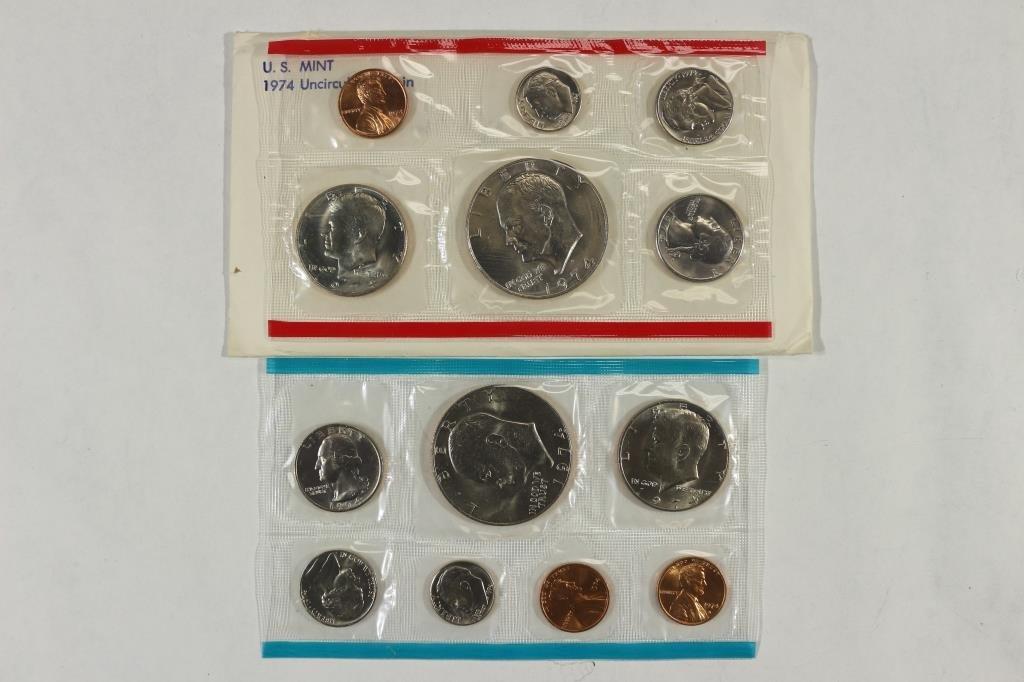 1974 US MINT SET (UNC) P/D/S (WITH ENVELOPE)