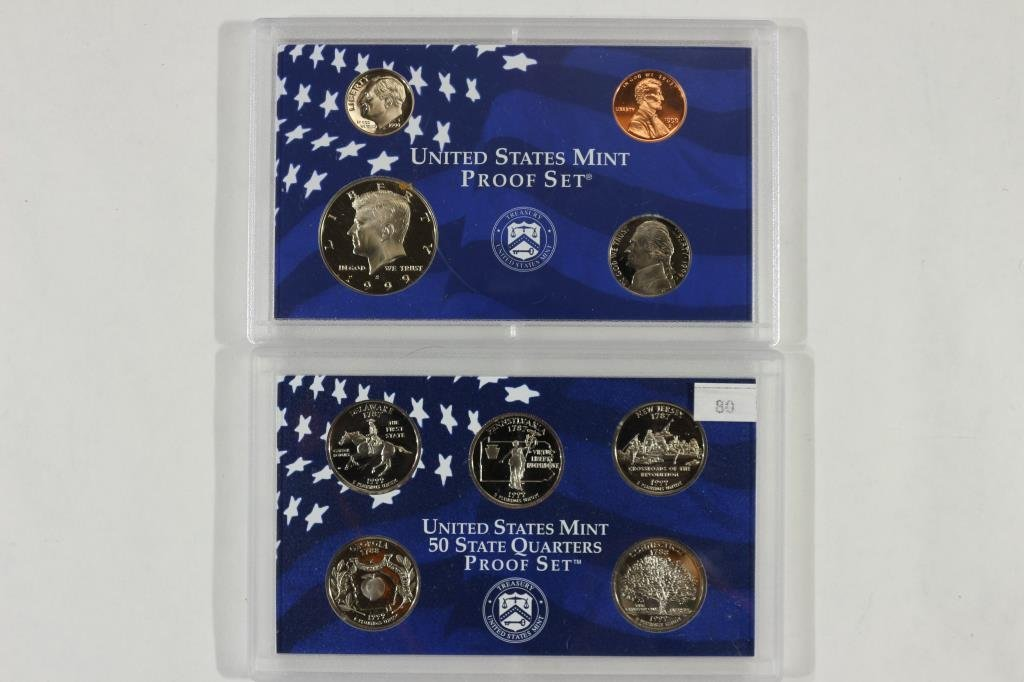 1999 US PROOF SET (WITH NO BOX)