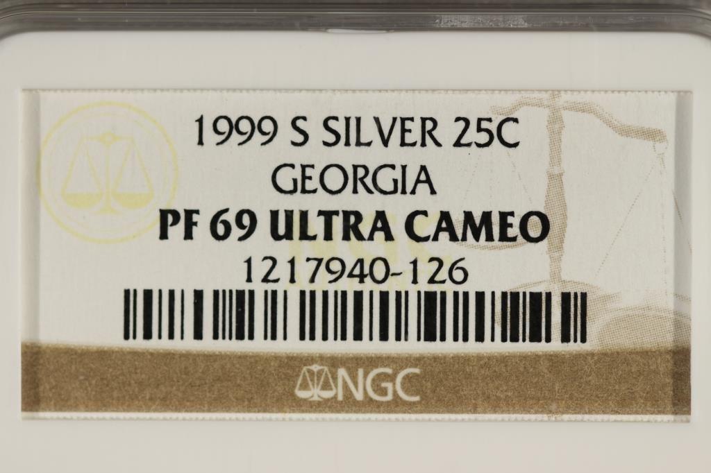 1999-S SILVER GEORGIA QUARTER NGC PF69 ULTRA CAMEO - 3