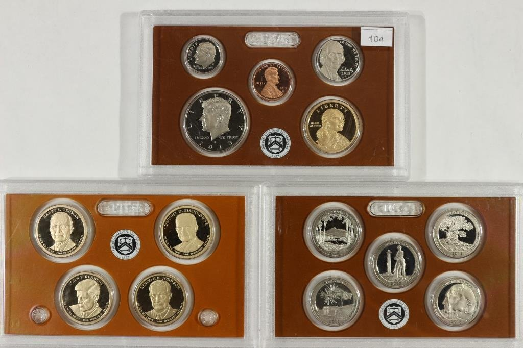 2013 US PROOF SET (WITH NO BOX) 14 PIECES