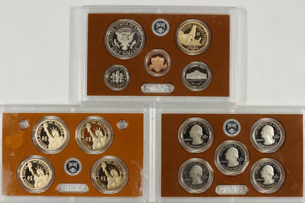2013 US PROOF SET (WITH NO BOX) 14 PIECES - 2