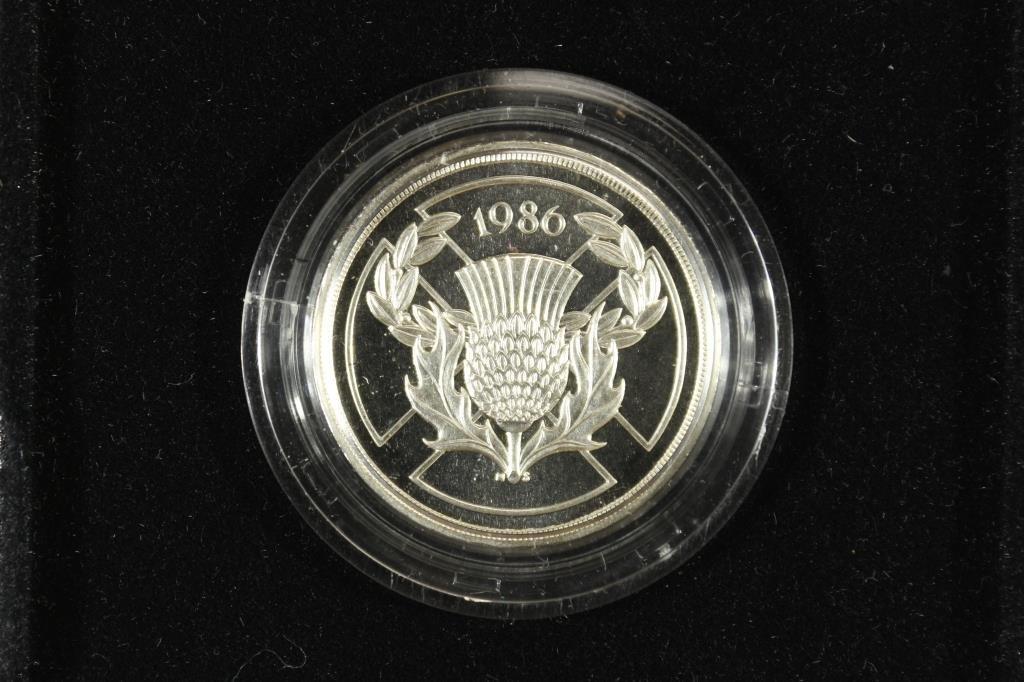 1986 UNITED KINGDOM SILVER COMMEMORATIVE 2 POUND