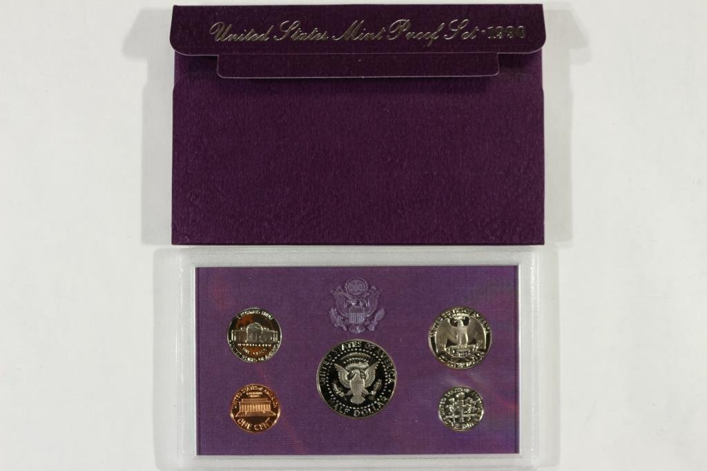 1990 US PROOF SET (WITH BOX) - 2