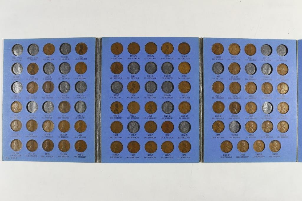 PARTIAL 1909-1940 LINCOLN CENT SET 61 COINS