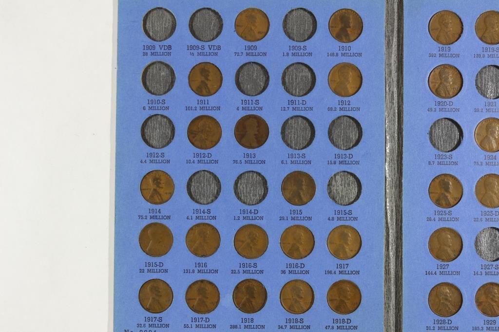 PARTIAL 1909-1940 LINCOLN CENT SET 61 COINS - 2