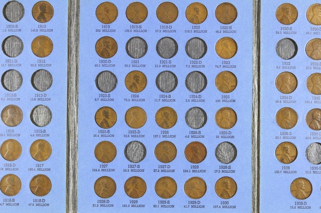 PARTIAL 1909-1940 LINCOLN CENT SET 61 COINS - 3