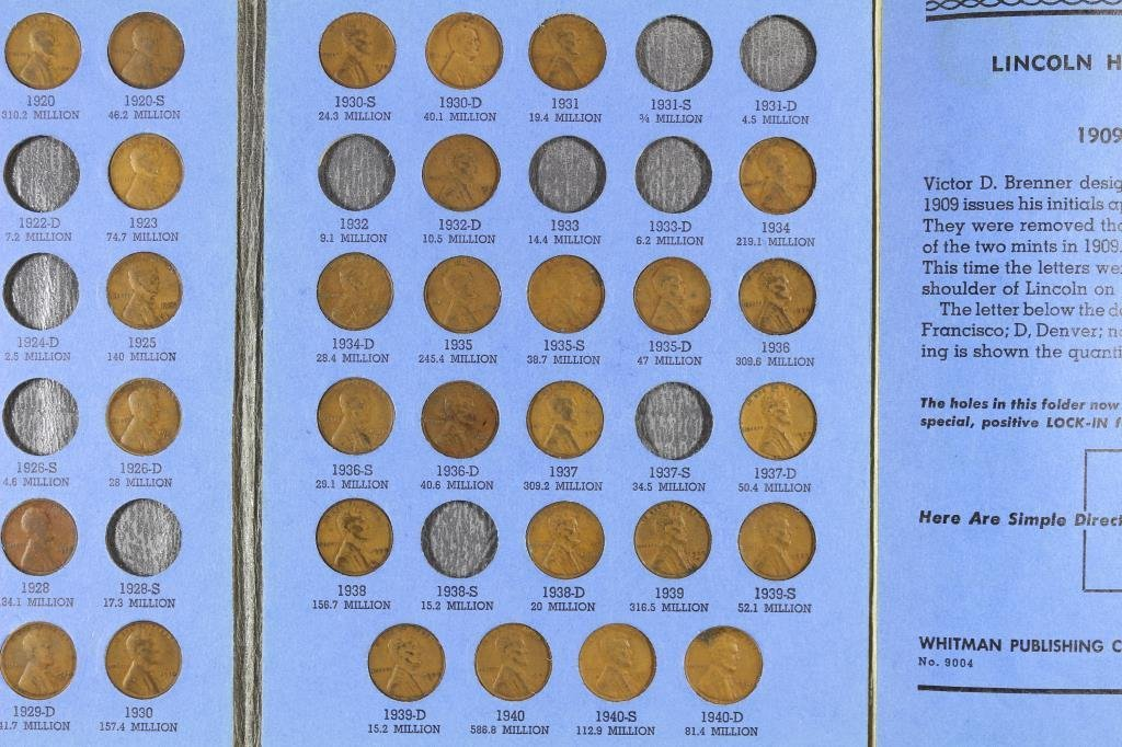 PARTIAL 1909-1940 LINCOLN CENT SET 61 COINS - 4