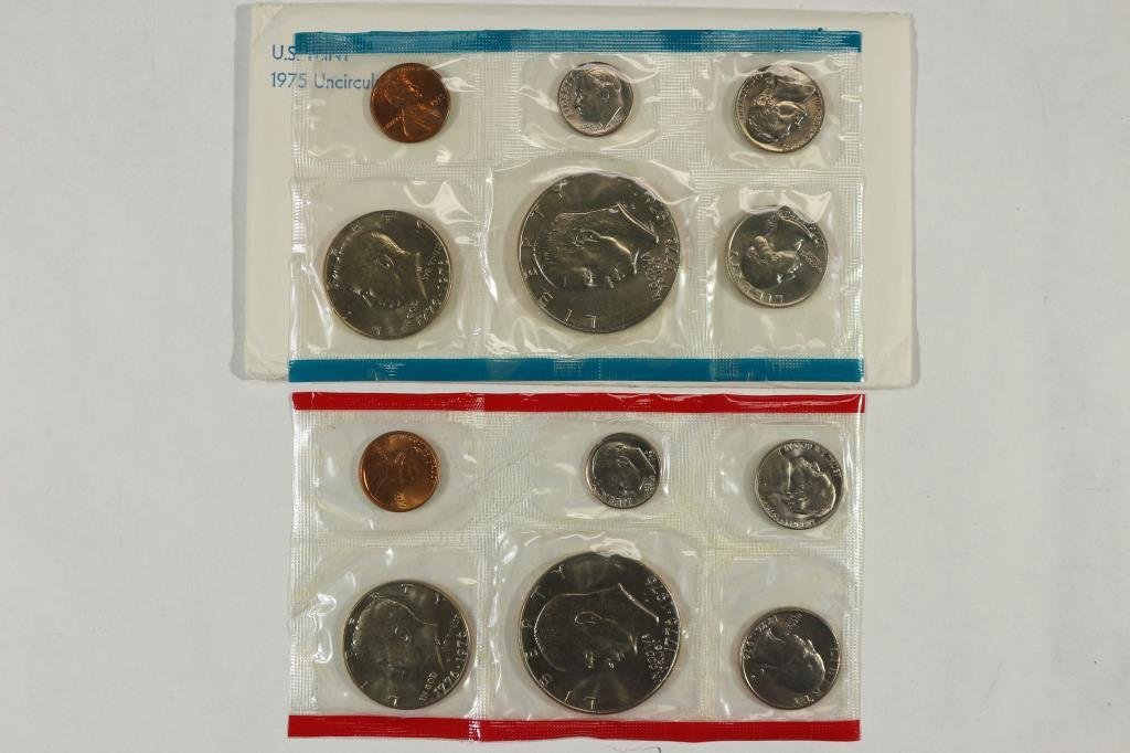 1975 US MINT SET (UNC) P/D (WITH ENVELOPE)