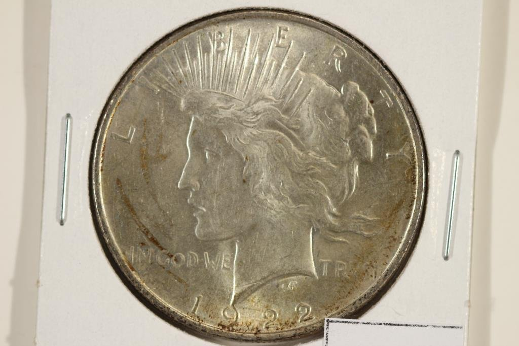 1922 PEACE SILVER DOLLAR UNC