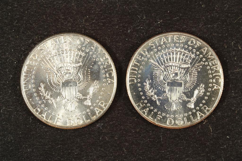 2 COLORIZED KENNEDY HALF DOLLARS ATTACK ON - 2