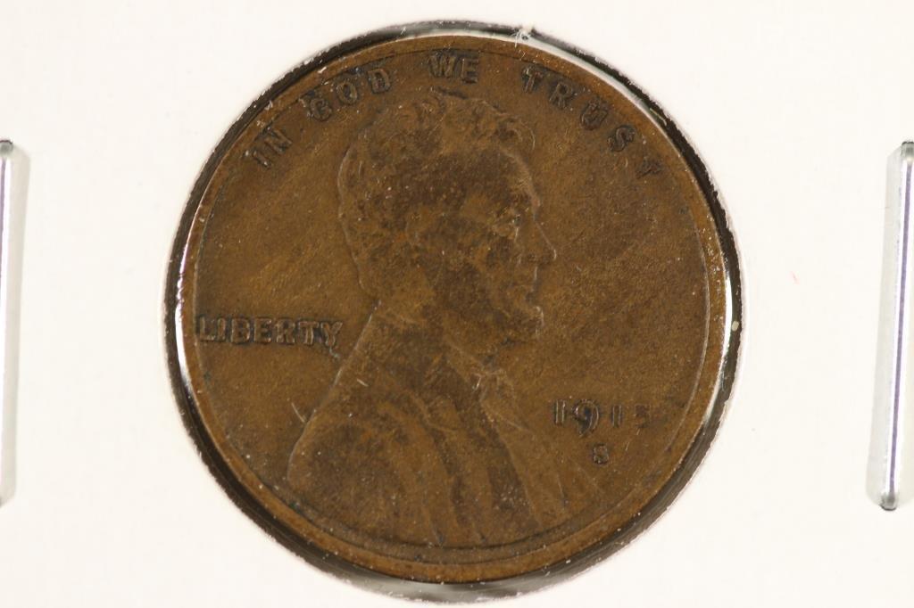 1915-S LINCOLN CENT (SEMI-KEY) (FINE)