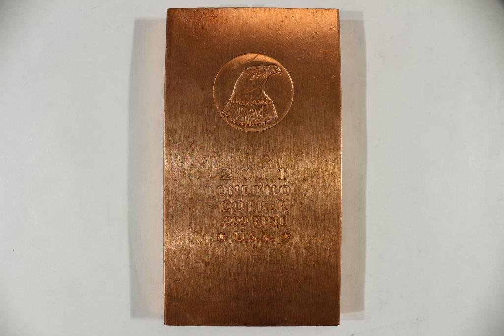 1 KILO .999 FINE COPPER BAR
