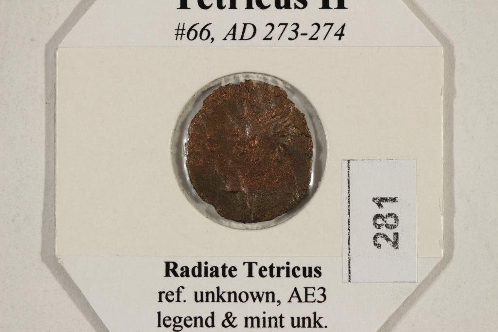 273-274 A.D. TETRICUS II ANCIENT COIN - 3