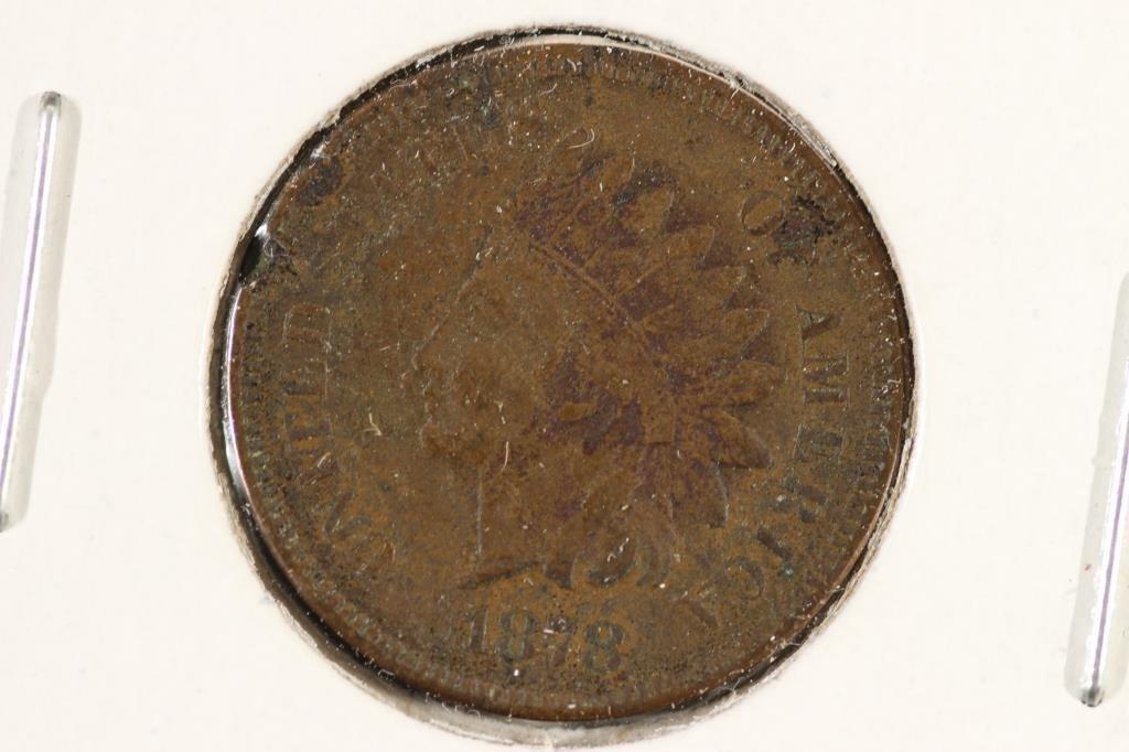 1878 INDIAN HEAD CENT (SEMI-KEY)