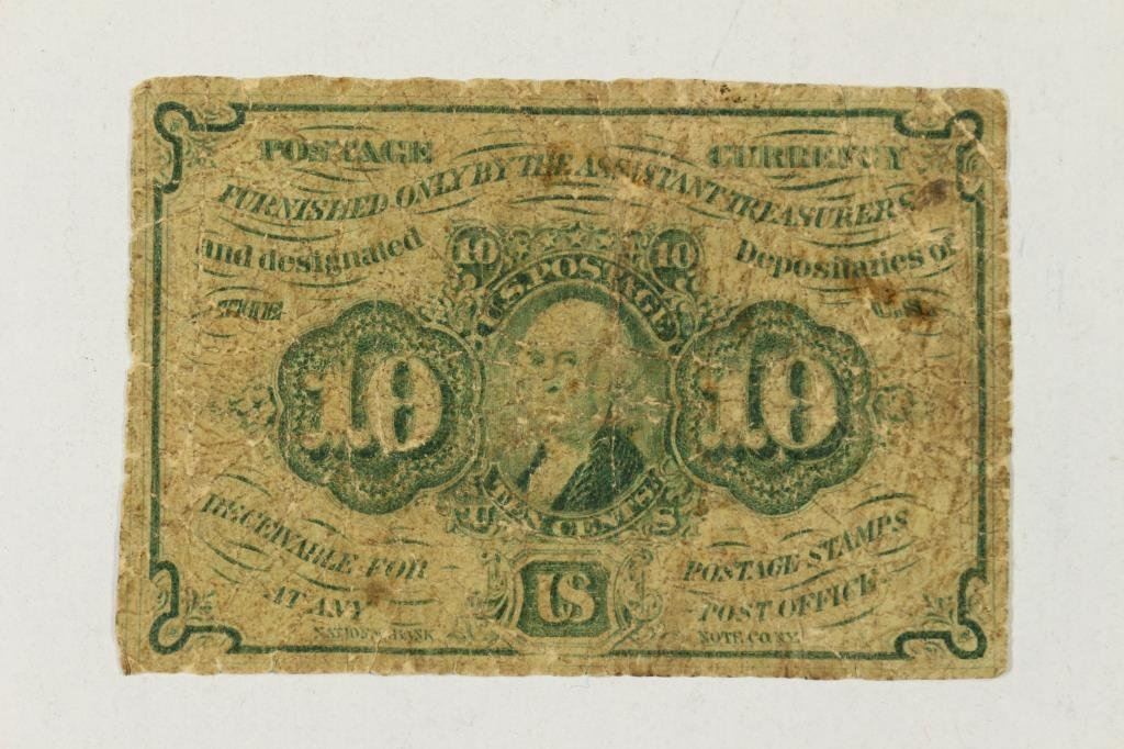 CIVIL WAR 10 CENT US FRACTIONAL CURRENCY