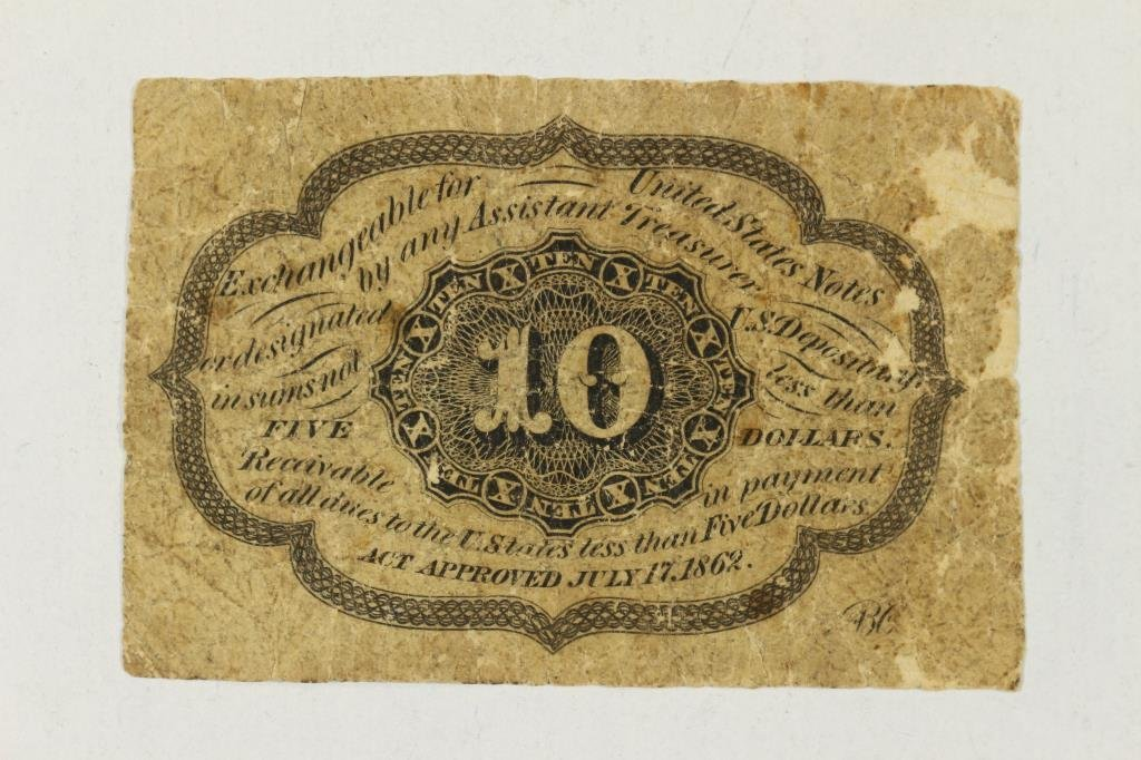 CIVIL WAR 10 CENT US FRACTIONAL CURRENCY - 2