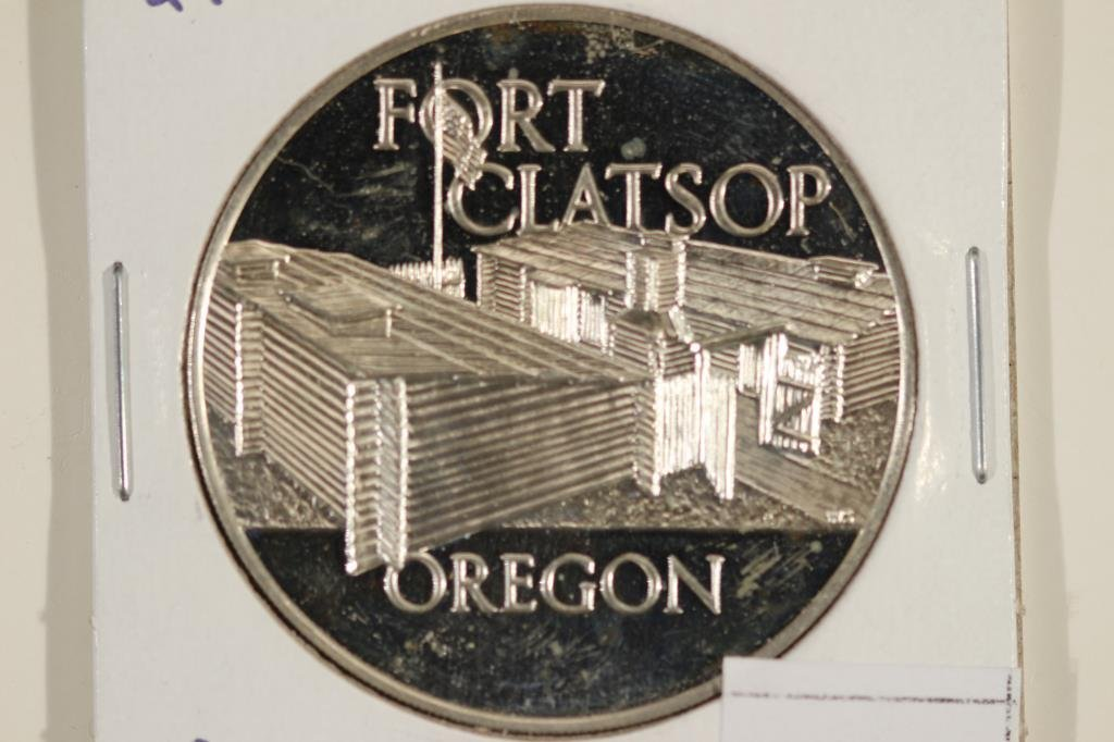 24.6 GRAM STERLING SILVER PROOF ROUND FORT