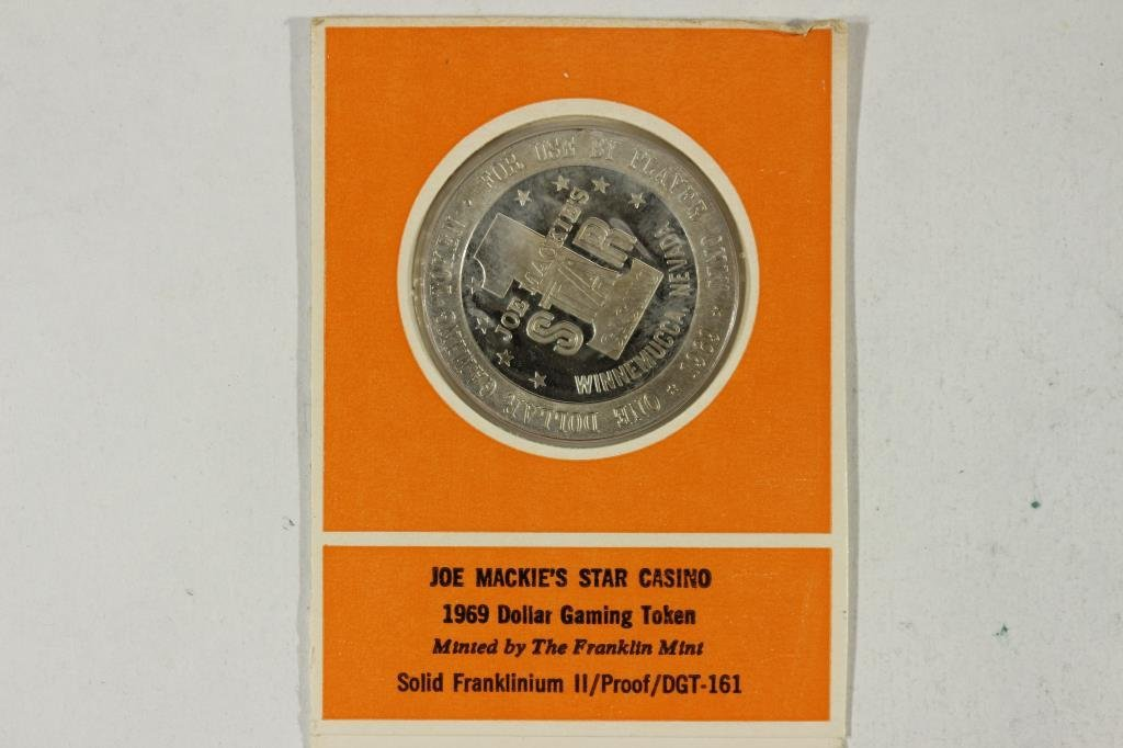 1969 JOE MACKIE'S STAR CASINO DOLLAR GAMING TOKEN