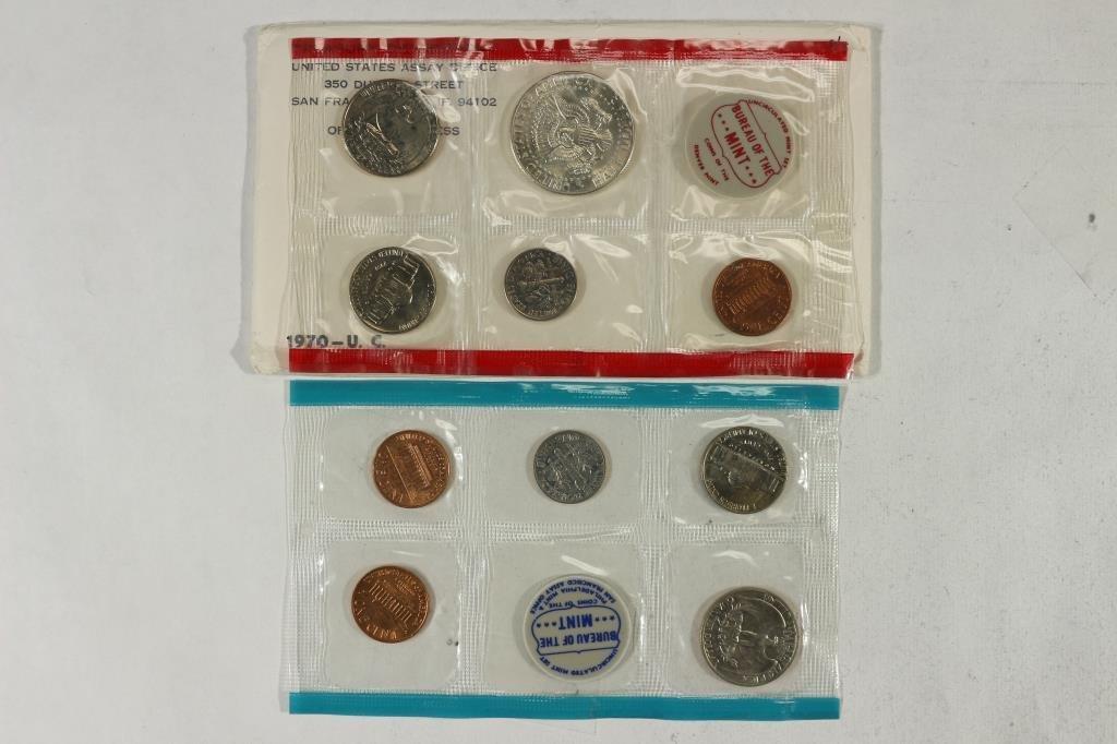 1970 US MINT SET (UNC) P/D/S (WITH ENVELOPE) - 2