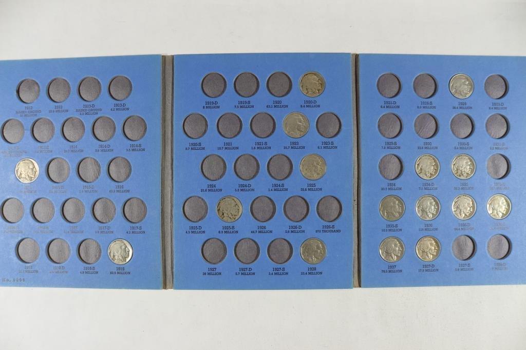 PARTIAL 1913-1938 BUFFALO NICKEL SET 16 COINS