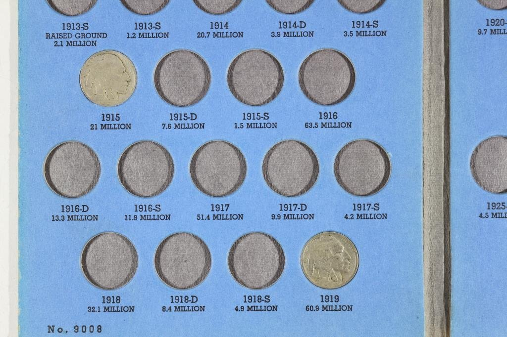 PARTIAL 1913-1938 BUFFALO NICKEL SET 16 COINS - 2