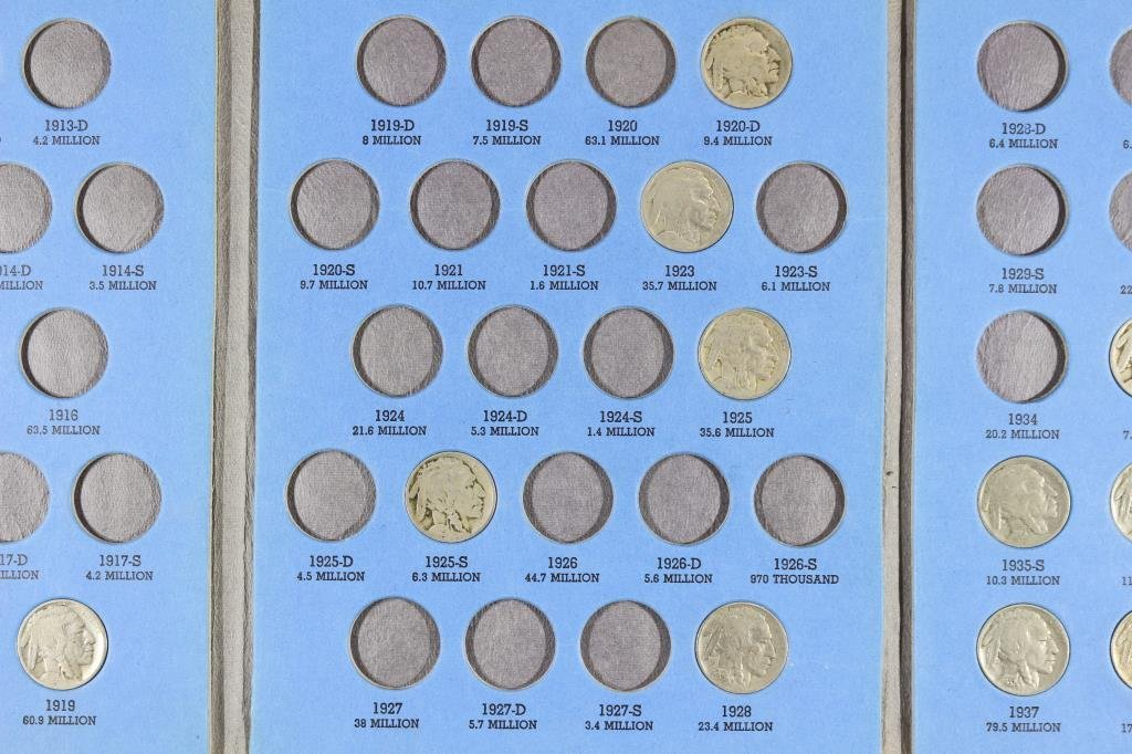 PARTIAL 1913-1938 BUFFALO NICKEL SET 16 COINS - 3