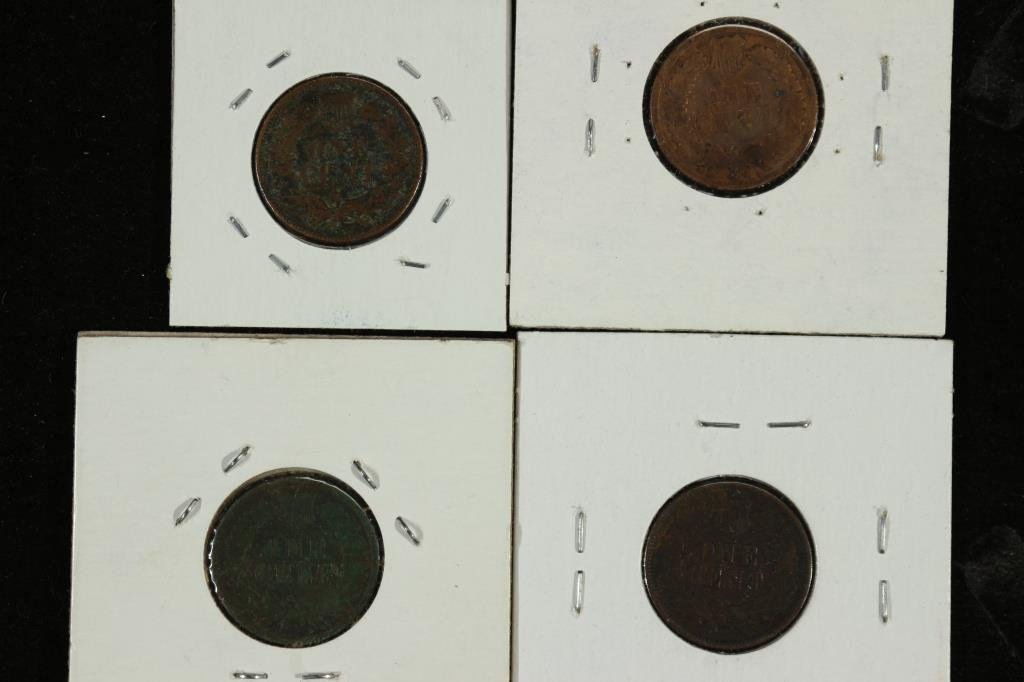 1880,81,87 & 1889 INDIAN HEAD CENTS - 2