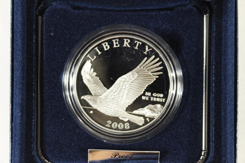 2008 BALD EAGLE PROOF SILVER DOLLAR