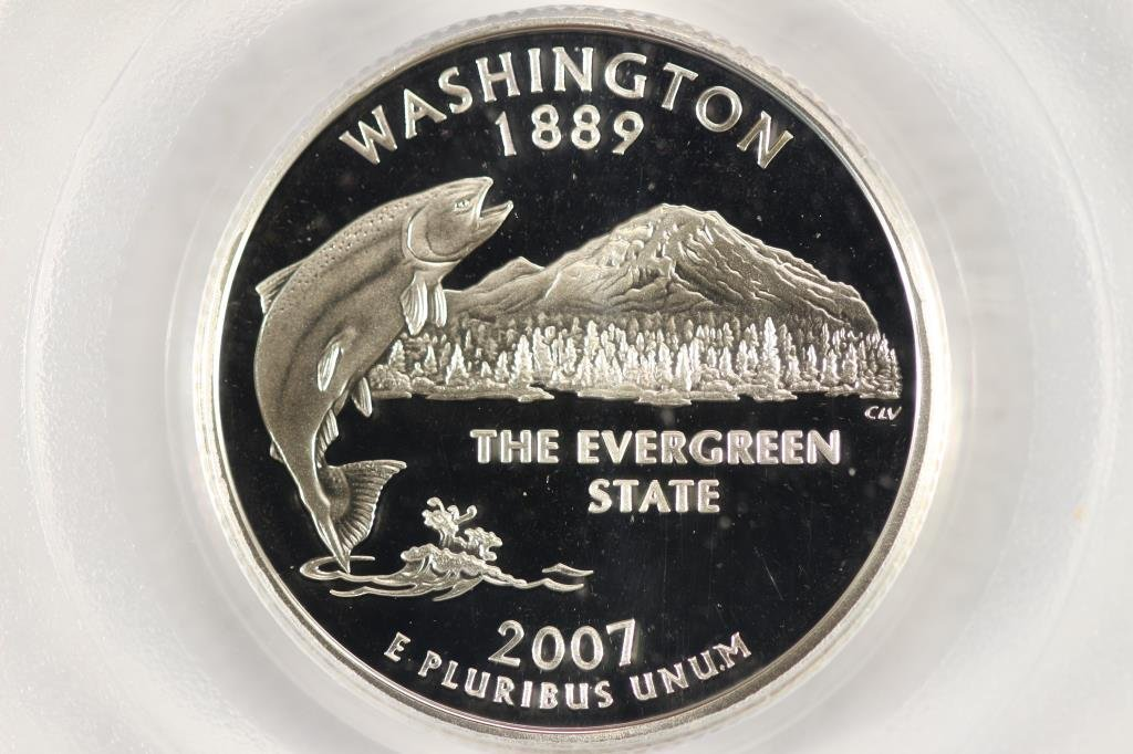 2007-S SILVER WASHINGTON STATE QUARTER PCGS PR69 - 2