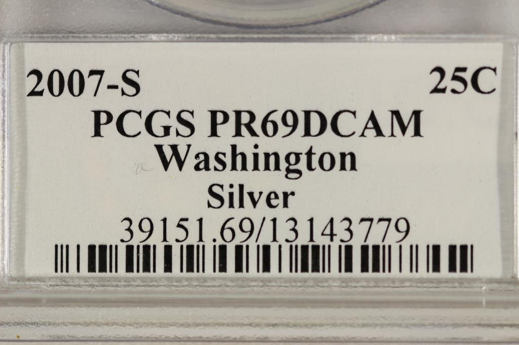 2007-S SILVER WASHINGTON STATE QUARTER PCGS PR69 - 3